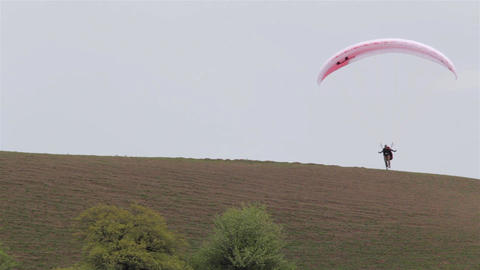 Paraglider On The Ground 03 stock footage