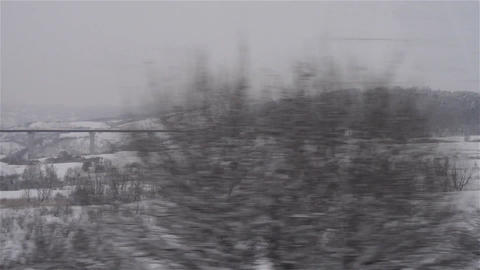 Regard on the train window 32 Footage
