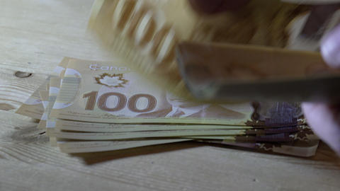 Counting $100 bills in 4K UHD Footage