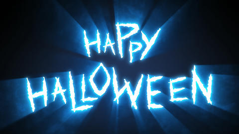 Claw Slashes Happy Halloween Blue Animation