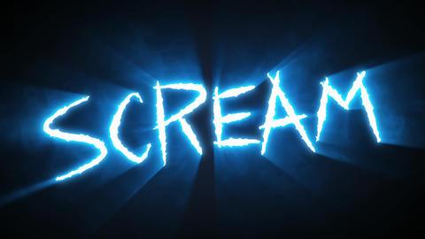 Claw Slashes Scream Blue Animation