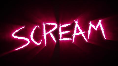 Claw Slashes Scream Red Animation