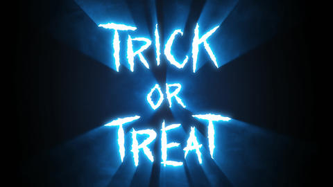 Claw Slashes Trick or Treat Blue Animation