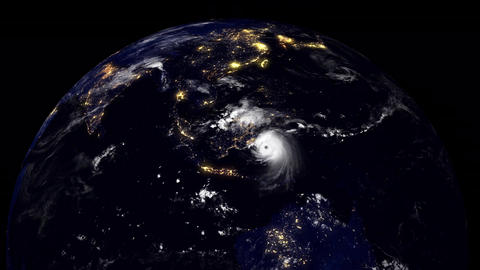 Hurricane Planet Indonesia Animation