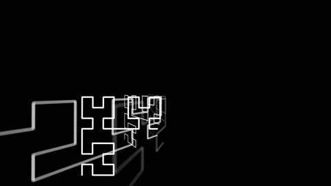 Hilbert Curve Step 4 Noncut 4 stock footage