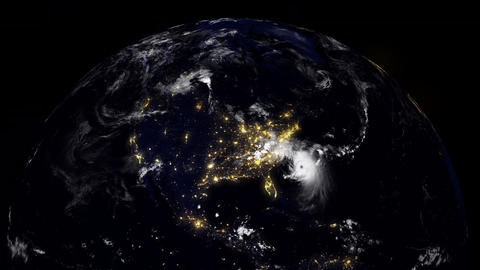 Hurricane Planet South Carolina USA Animation