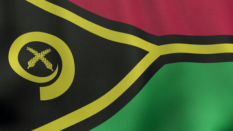 4K UltraHD Loopable waving Vanuatuan flag animation Animation