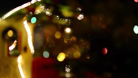 Defocused decoration lights Footage