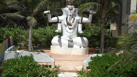 Statue of Hindu God Ganesha - Tilt Up Footage