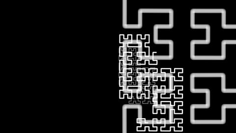 Hilbert Curve Step 5 Noncut 3 stock footage