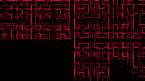 Hilbert Curve Step 5 Noncut 7 stock footage