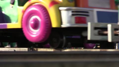 Train children in amusement park 02 Footage