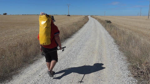 Pilgrim on the Camino de Santiago 13 Footage
