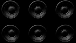 Bouncing Multiple Speakers Wall stock footage