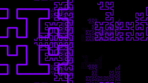 Hilbert Curve step 6 cut 8 Animation