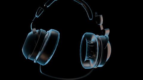 Deconstructing Headphones Loop CG動画