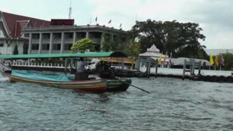 Boat On The River Chao Phraya stock footage