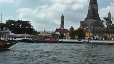 Watertaxi At The Chao Phraya River stock footage
