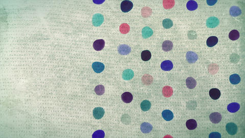 Vintage abstract painted dots background animation Animation