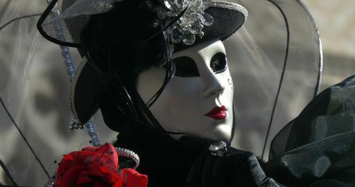 Venice mask Doge Palace 01 Footage