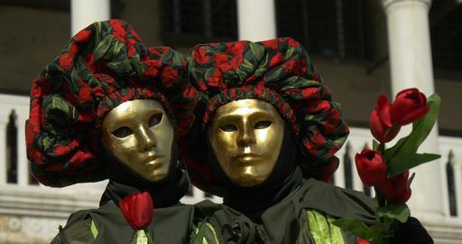 Venice mask Doge Palace 07 Footage