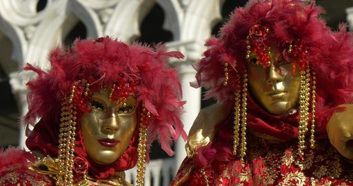 Venice mask Doge Palace 04 Footage