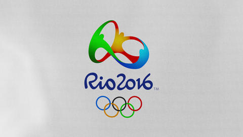4K Loopable: Rio 2016 Summer Olympic Games Flag Waving in Wind Footage
