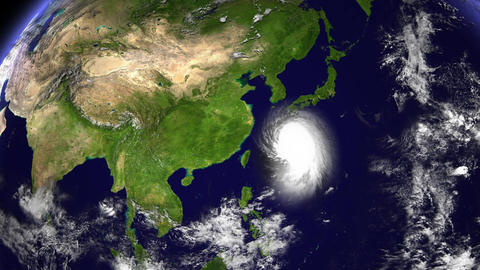 Hurricane Planet China Taiwan Animation