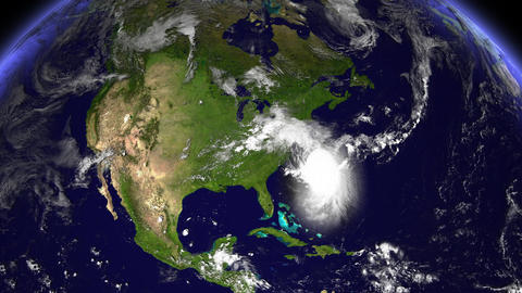 Hurricane Planet Florida / USA Animation