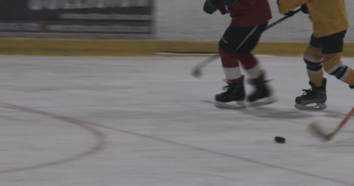 Kids skating fast during training Footage