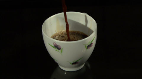 Coffee Drop Into The Cup stock footage
