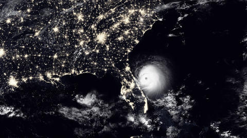 Hurricane hits North Florida / USA Animation