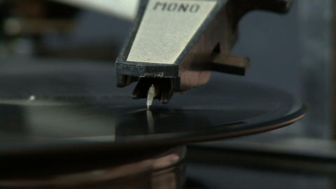 Old Vinyl Record stock footage