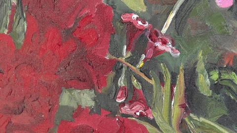 Oil painting on canvas 17 ライブ動画