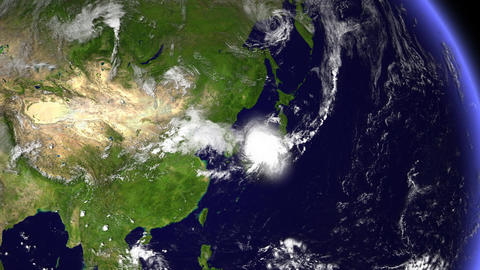 Hurricane Planet South Korea / Japan Animation