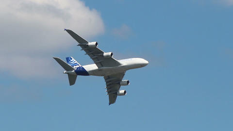 A380 Turn stock footage