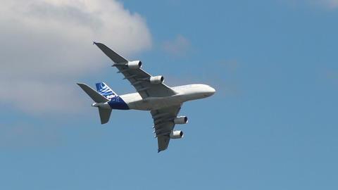 A380 turn Footage