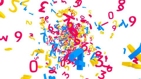 数字バックグラウンド Animation