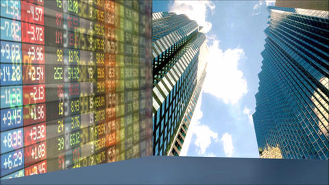Stock Market Business Graphic Chart Animation Footage