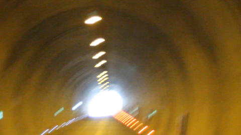 Movement In The Tunnel stock footage