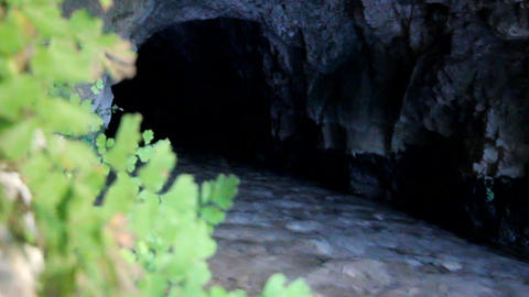 River Flows From Underground stock footage