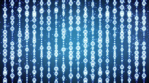 glowing blue festive beads loopable background Animation