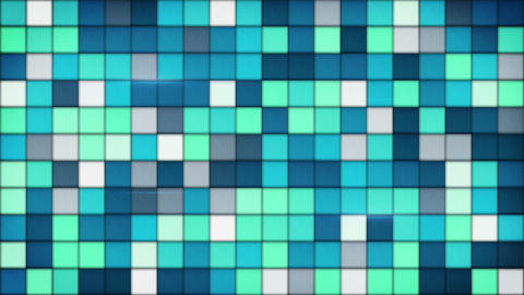 blue tiles glass mosaic seamless loop background 4k (4096x2304) Animation