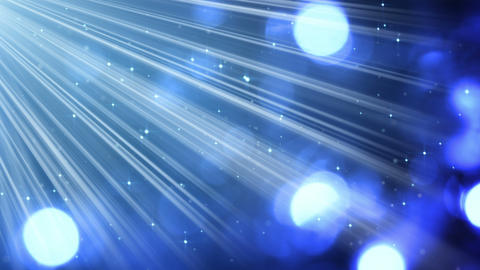 light rays and bokeh circles blue loopable background 4k (4096x2304) Animation