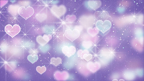 elegant color hearts bokeh lights loopable background Animation