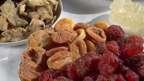 Different Types of Dried Fruits Footage