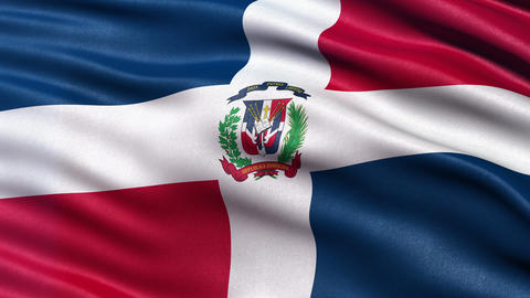 4K Flag of the Dominican Republic seamless loop Ultra-HD Animation