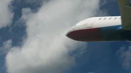 Flying airplane in air Footage