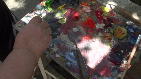 Oil painting on canvas 15 Footage
