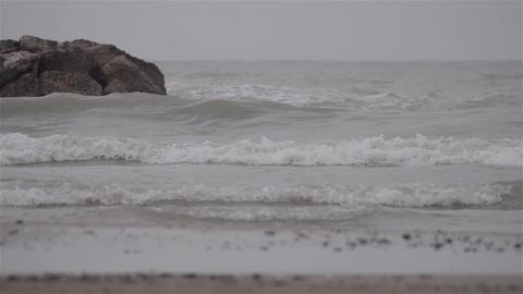 Waves on beach 09 Footage